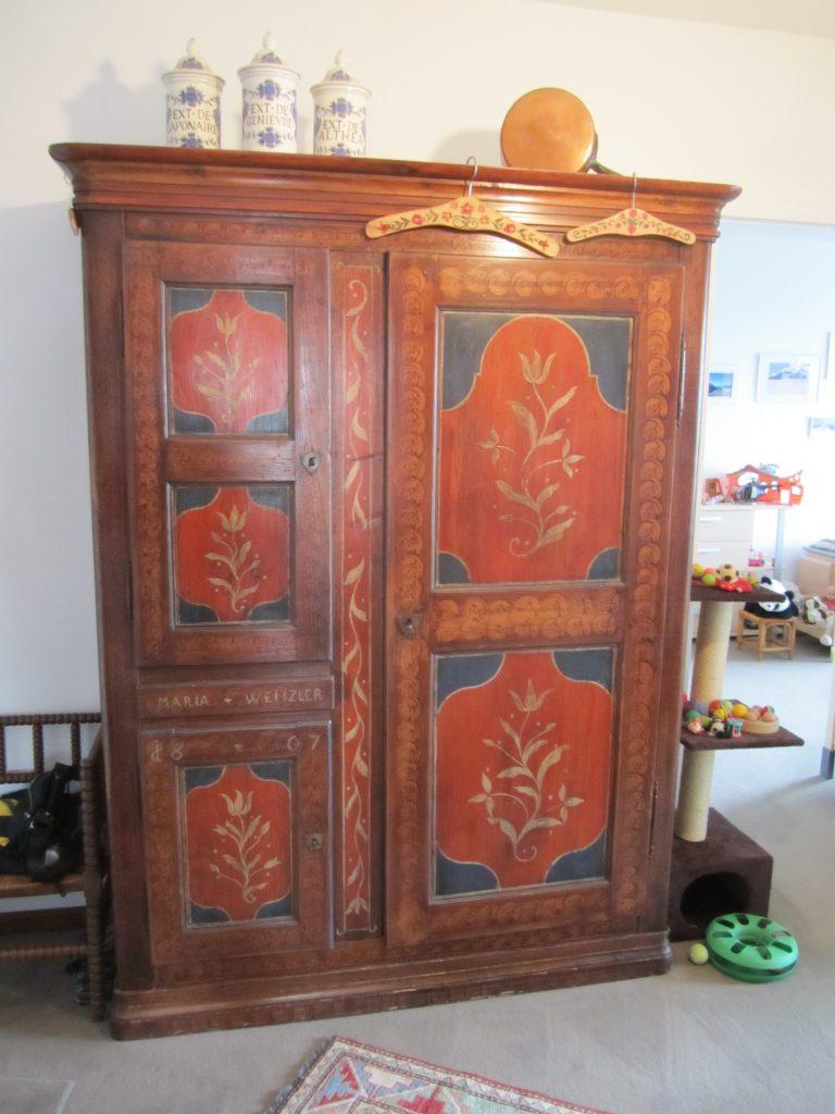 polychrome alsacien, armoire polychrome ancienne